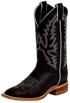 11d998c2d90  NEW  Justin Ladies Bent Rail Series Black Burnished Calf Cowgirl Boots