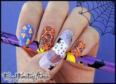 Halloween Nail Designs, Halloween Nail Art, Cool Nail Designs, Halloween Sweets, Halloween Candy, Sinful Colors, Nail Colors, Luv Nails, Nice Nails