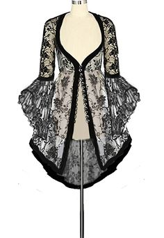 Gothic Victorian Long Lace Coat