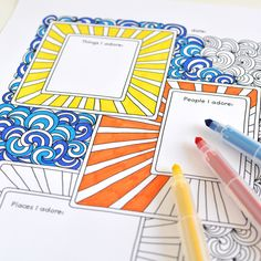 Adventures in Guided Journaling: journal pages