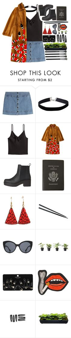 """""""12.30.16"""" by kianahall ❤ liked on Polyvore featuring Vanessa Bruno Athé, Miss Selfridge, H&M, Gucci, Smythson, Miu Miu, Topshop, Olympia Le-Tan and MAC Cosmetics"""