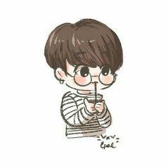 He is cute in specs ❤_❤ jungkook fanart, jimin, jungkook cute, Jungkook Fanart, Fanart Bts, Jungkook Cute, Bts Jimin, Bts Chibi, Kpop Drawings, Kawaii Drawings, Cartoon Drawings, Bts Kawaii