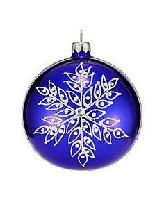 Dagmara Glitter Snowflake Glass Ornament - No Color