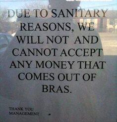 What? No sweaty tit money?