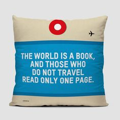 The World Is - Throw Pillow
