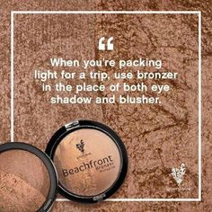 Younique's Beachfront Bronzers are PERFECT for that sun-kissed look. With half SHIMMER and half MATTE, if your pressed for room while travelling. Try using the bronzer as a eyeshadow and blusher, one product = more room!!! #youniqueproducts #bronzer #shimmer #matte #sunset #hermosa #malibu #eyeshadow #blusher PERFECT for #travelling #sunkissed #beachfront #glow #glam #beauty  www.youryouniquebynicolle.com