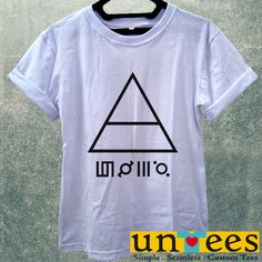 Low Price only $16.00 , Women's Adult T-Shirt - 30 Seconds To Mars Triangle design