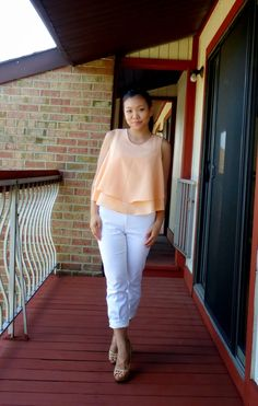 Outfit of the Day: Zara Crop Top and H&M White Slacks! #ootd #croptop #outfitoftheday