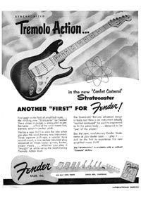 Vintage advert for the Fender Stratocaster electric guitar, originally placed in 1954 Fender Bass Guitar, Acoustic Bass Guitar, Fender Electric Guitar, Fender Guitars, Music Guitar, Cool Guitar, Fender Acoustic, Guitar Art, Leo Fender
