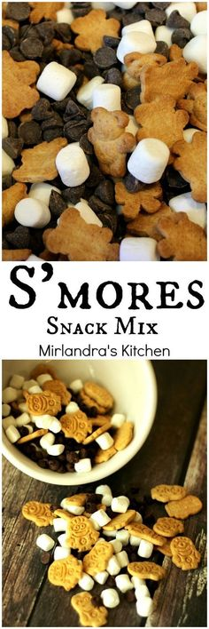 Fun and playful, this S'mores Snack Mix is the perfect treat for a party, camping or snacking. You can make it with Teddy Grahams or the new Minions Grahams trip snacks, S'mores Snack Mix Dessert Haloween, Snack Recipes, Dessert Recipes, Snacks Ideas, Baking Desserts, Party Recipes, Dessert Food, Holiday Recipes, Vegetarian Recipes