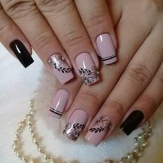 thousand Gusta Me 97 comments Beautiful and Healthy Nails (Packing Nageldesign Cute Nail Art Designs, Acrylic Nail Designs, Acrylic Nails, Hair And Nails, My Nails, Short Nails Art, Nail Art Videos, Nail Art Rhinestones, Fire Nails