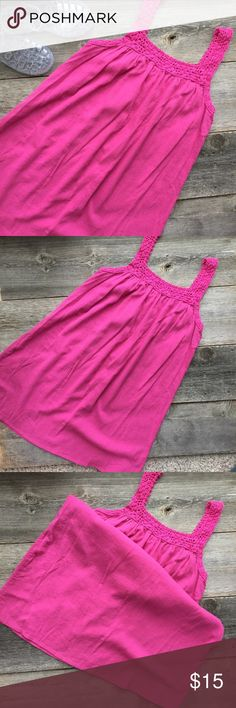 Roxy Swim Cover Dress Pink light weight Roxy swim cover dress, made of crepe-like material. Size M, EUC.  *shoes not included Roxy Swim Coverups