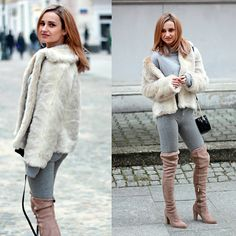 Get this look: http://lb.nu/look/8534457  More looks by Adriana M.: http://lb.nu/lilicons  Items in this look:  Bershka Grey Sweatshirt, Bershka Grey Sweatpants, Dee Zee Beige Over Knee Boots, Mango Black Bag   #casual #minimal #street #style #fashion #lookbook #lookbooker #today #outfit