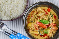Chicken Thai Green Curry - Burgundy Box