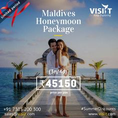 Visiit (@VisiitHoliday) | Twitter Visit Maldives, Honeymoon Packages, Travel Deals, Tours, Explore, Twitter, Movie Posters, Vacation Deals, Film Poster