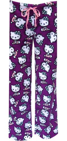 WebUndies.com Hello Kitty Purple Plush Lounge Pants