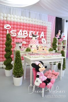 Isabella's 1st Minnie Birthday | CatchMyParty.com