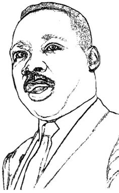 martin luther king jr kids coloring pages free colouring pictures to print - Martin Luther King Jr Coloring Pages