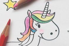 Printable Malvorlage Ausmalbild DIY Kind Kleinkind Kindergarten KITA Mädchen Prinzessin Einhorn Freebie Wolke Regenbogen Märchen