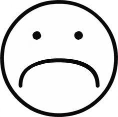 Smiley nadenken mijn favo s pinterest jaar een for Sad face coloring page