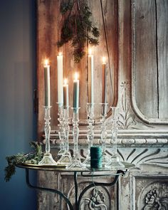 vtwonen kerst glazen kandelaren