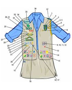 Cadette Girl Scout uniform (2001-2009)