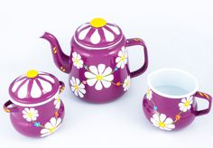 Hand painted tea set - 9377
