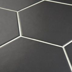 Merola Tile Hexatile Matte Nero 7 in. x 8 in. Porcelain Floor and Wall Tile (2.2 sq. ft./pack)-FEQ8HMN - The Home Depot