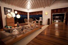 Zenza light in livingroom in Villa Susanna, Caribbean by Nomade architettura  www.nomadearchitettura.com