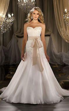2013 New Lace White Ivory Wedding Dress