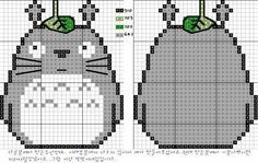 Totoro for cross stitch pattern. I am so making this Cross Stitch Charts, Cross Stitch Designs, Cross Stitch Patterns, Cross Stitching, Cross Stitch Embroidery, Embroidery Patterns, Pixel Crochet, Stitch Cartoon, Hama Beads Patterns