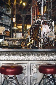 Steampunk-Themed Coffee Shop Interior   Decor Advisor