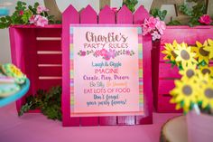 American Girl Doll WellieWishers Inspired Birthday Party... Party Rules inspired by the WellieWishers Garden Rules