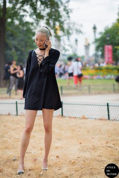 Soo Joo Park Street Style Street Fashion Streetsnaps by STYLEDUMONDE Street Style Fashion Photography