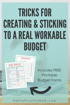 how to create a budget | budget printable | how to get out of debt | how to stick to a budget | personal finance | money | savings via @PennyPinchinMom