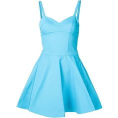 Jeremy Scott fit and flare dress (€615) ❤ liked on Polyvore featuring dresses, short dresses, blue, blue cotton dress, fit and flare dress, blue mini dress, fit and flare mini dress and jeremy scott dress