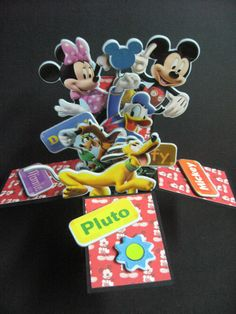 Mickey and friends' card in a box