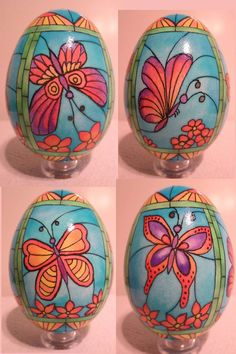 Stained Glass pysanky by Karen Hanlon PysankyUSA retreat teacher.