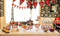 This beautiful PARISIAN THEMED FIRST BIRTHDAY PARTY was submitted by Shaye Matthews of Couture Celebrations OKC. What a cute and elegant first birthday event. I think the red, black, and white color p