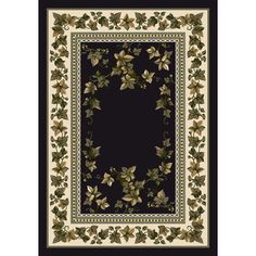"""Milliken Signature Ivy Valley Onyx Area Rug Rug Size: Oval 3'10"""" x 5'4"""""""