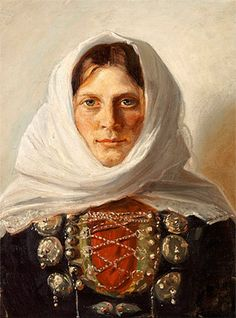 Michael Peter Ancher (1849-1927): Woman in Folk Costume from Læsø
