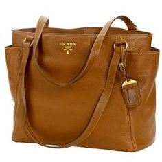 4798bd62755a Costco: Prada Vitello Daino Leather Tote BR4970 - Brandy Prada Handbags,  Handbags 2014,