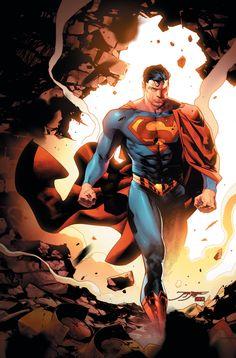 DC Comics Superman by Jorge Jimenez and Jaime Mendoza - W. Marvel Dc Comics, Hq Marvel, Dc Comics Art, Superman Wonder Woman, Superman Man Of Steel, Superman Comic, Superman Artwork, Superman Wallpaper, Superman Stuff