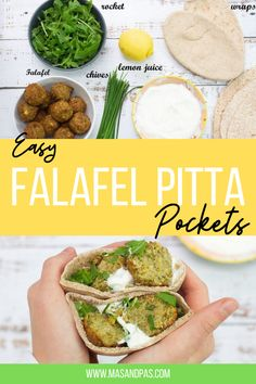 We all have times where we need a little inspiration for packed lunches. These easy falafel pitta pockets are simple to make and are a nutritious meal too. Find a step by step guide to create your own! #falafel #falafelpitta #falafelrecipe #lunchideas #lunchbox Toddler Dinner Recipes, Healthy Toddler Meals, Lunch Box Recipes, Healthy Kids, Healthy Snacks, Spicy Recipes, Indian Food Recipes, Healthy Recipes, Easy Family Meals