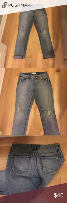 Paper denim & cloth Denim jeans || light washed out blue Jeans Boyfriend