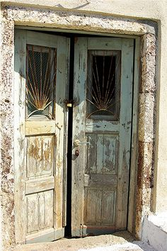 Lovely weathered double doors