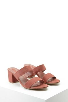 Rose Strappy Faux Suede Sandals