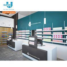 Convience Store, Shop Counter Design, Pharmacy Store, Store Counter, Pharmacy Design, Shop Fittings, Commercial Design, Receptions, Store Design