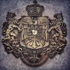 Romania Royal Heraldry Baby Tattoos, Tatoos, Michael I Of Romania, History Of Romania, Romanian Royal Family, Vlad The Impaler, Ottoman Turks, Family Crest, History Photos
