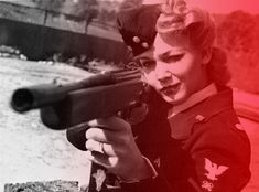 vintage gun girl: that would have been me in during WWII ;)